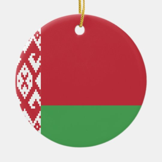 Belarus Flag Ceramic Ornament
