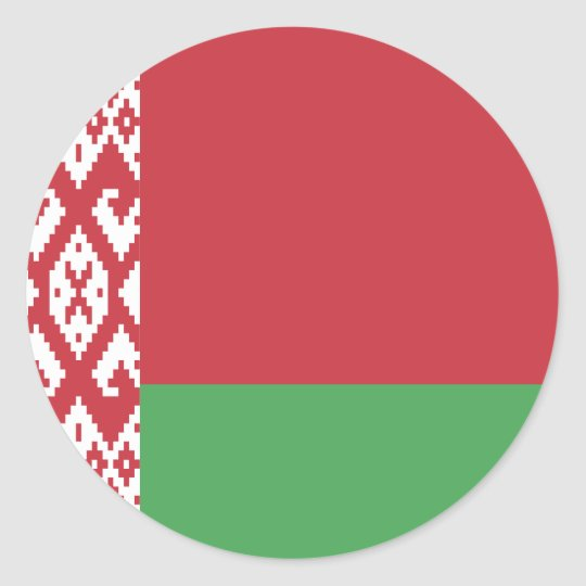 Belarus Flag Classic Round Sticker