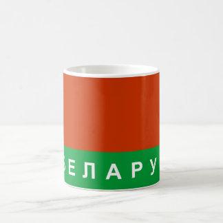 belarus flag country russian cyrillic text name coffee mug