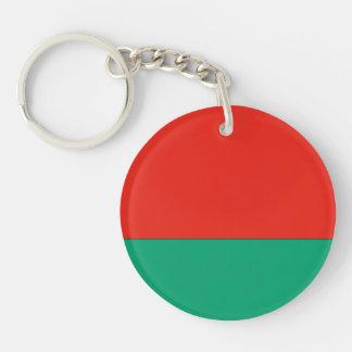 Belarus Flag Double-Sided Round Acrylic Keychain