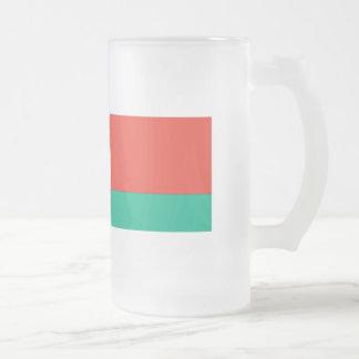Belarus Flag Frosted Glass Beer Mug