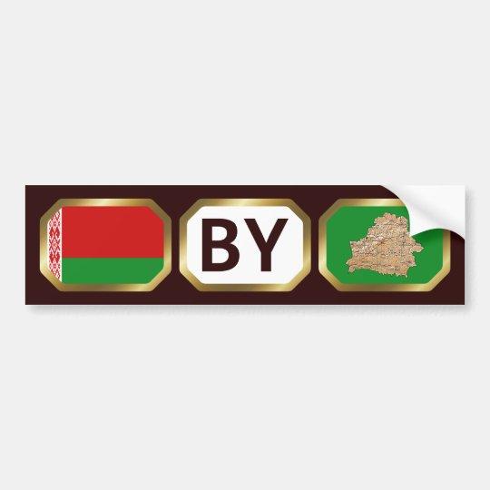 Belarus Flag Map Code Bumper Sticker