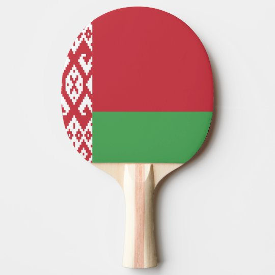 Belarus Flag Ping Pong Paddle