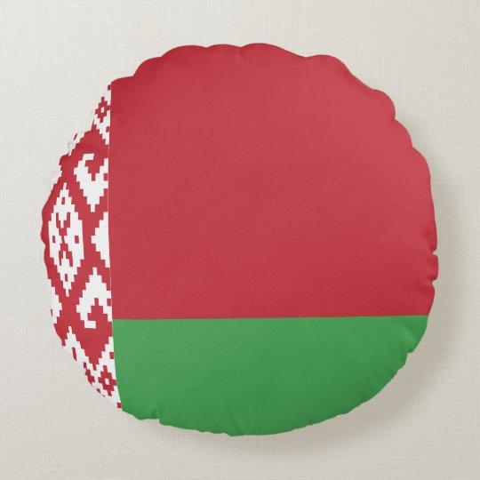 Belarus Flag Round Pillow
