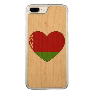 Belarus Flag Simple Carved iPhone 7 Plus Case