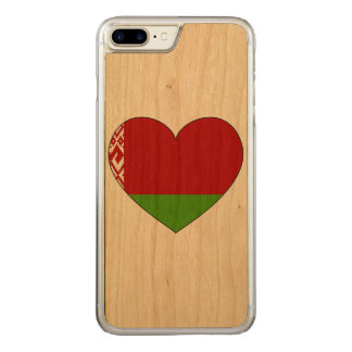 Belarus Flag Simple Carved iPhone 8 Plus/7 Plus Case