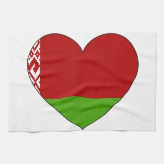 Belarus Flag Simple Kitchen Towel