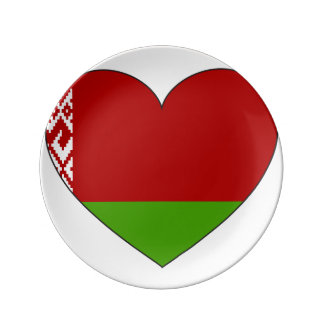 Belarus Flag Simple Plate
