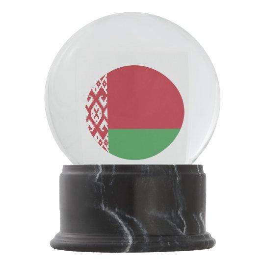 Belarus Flag Snow Globe