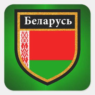 Belarus Flag Square Sticker