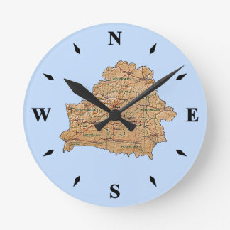 Belarus Map Clock