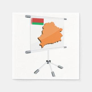 Belarus Map Paper Napkins