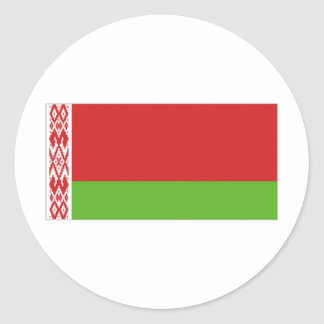 Belarus National  Flag Classic Round Sticker