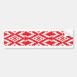 Belarus Pattern, Belarus flag Bumper Sticker