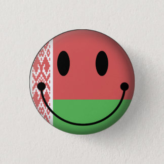 Belarus Smiley 1 Inch Round Button