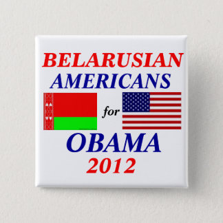 Belarusian americans for Obama 2 Inch Square Button