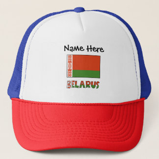 Belarusian Flag and Belarus with Name Trucker Hat