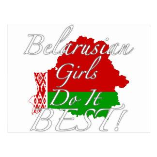 Belarusian Girls Do It Best! Postcard