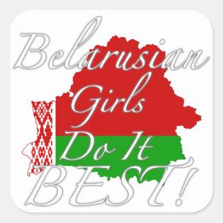 Belarusian Girls Do It Best! Square Sticker