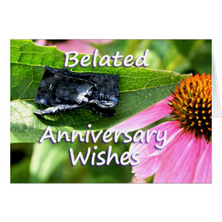 Belated Anniversary Apology2-customize Greeting Card