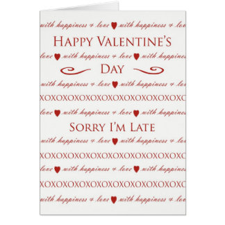 Belated Valentine's Day, Elegant Script Lettering Greeting Card