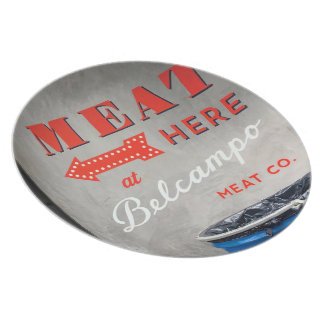 "Belcampo ""Meat Here"" Melamine Plate"