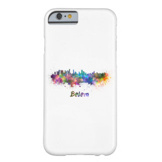 Belem skyline in watercolor barely there iPhone 6 case