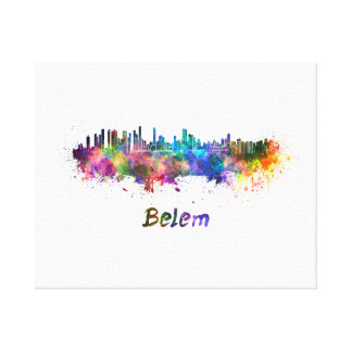Belem skyline in watercolor canvas print