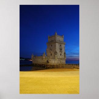 Belem Tower in Lisbon, Portugal (Sunset) Poster