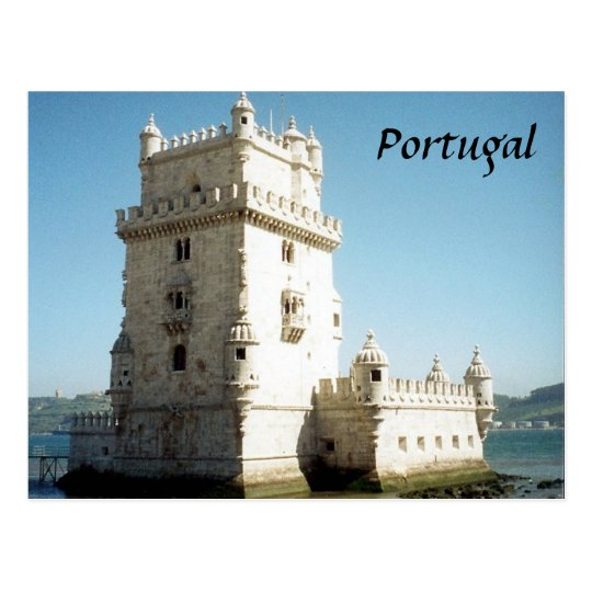 belem tower postcard