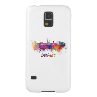 Belfast skyline in watercolor galaxy s5 cover