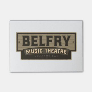 Belfry Music Theatre - Post-it notes