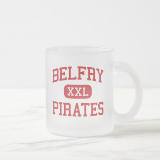 Belfry - Pirates - High School - Belfry Kentucky Frosted Glass Coffee Mug