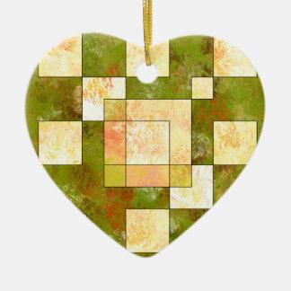 Belgencissa V1 - autumn colours Ceramic Heart Ornament