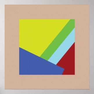 Belgian Abstract Art Poster