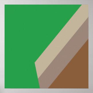 Belgian Abstract Art Poster Green