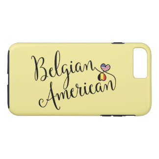 Belgian American Entwined Hearts Cell Phone Case