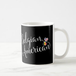 Belgian American Entwined Hearts Mug