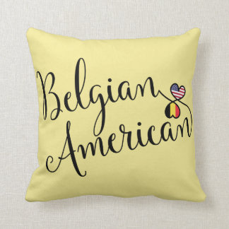 Belgian American Entwined Hearts Throw Cushion