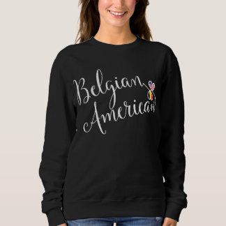 Belgian American Entwinted Hearts Sweatshirt