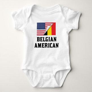 Belgian American Flag Baby Bodysuit