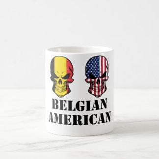 Belgian American Flag Skulls Coffee Mug