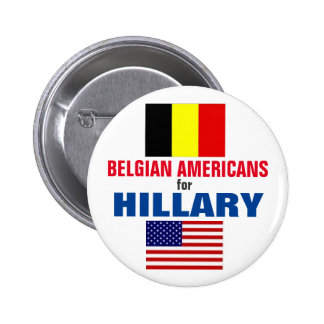 Belgian Americans for Hillary 2016 2 Inch Round Button