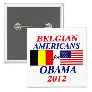 Belgian americans for Obama 2 Inch Square Button