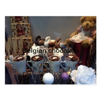 Belgian chocolate postcard