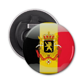 Belgian Coat of arms Button Bottle Opener