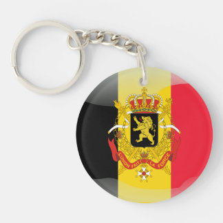 Belgian Coat of arms Single-Sided Round Acrylic Keychain