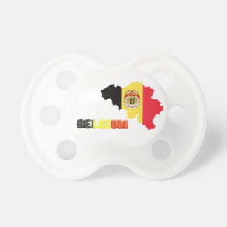 Belgian country flag pacifier