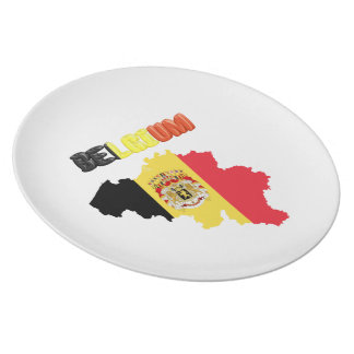 Belgian country flag plate