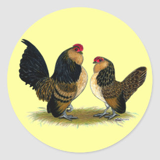 Belgian d'Anvers Bantams:  Quail Classic Round Sticker